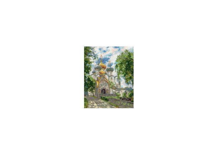 Новодевичий монастырь.  Размер 30см - 41см.  Счетный крест.  В состав набора входит: 1. Обложка с фотографией готовой...